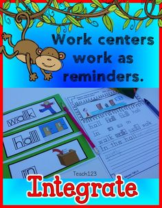 Integrate your behavior management plan with your literacy centers. It is great reminders for your students, reinforces your plan without having to nag! When student take home the assignment, parent can go over the assignment and provide more support. It is a win-win. Great for Back to school or any time your class has fallen off track. Link to paid.