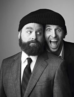 zach galifianakis and bradley cooper. Perfection