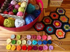I didn't use this method, but it would have been good to know! *Lovely hexagons and a good way to pick colours