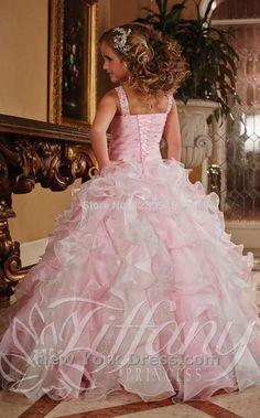 Bonito frisado vestido de baile rosa meninas Pageant vestidos vestidos menina para casamentos de luxo princesa vestido de festa em Vestidos de Dama de Honra de Casamentos e Eventos no AliExpress.com   Alibaba Group