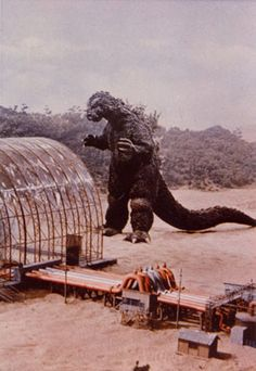 """Godzilla,""""oh darn it,I've forgotten my bag for life and its going to cost me now if I want to buy two dahlias at the garden centre,shoot my tiny pea brain. Giant Monster Movies, Japanese Monster, Famous Monsters, Garden Centre, Classic Monsters, Fantasy Movies, Creature Feature, King Kong, Dahlias"""