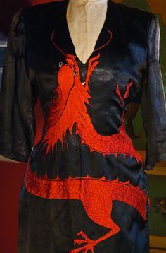 Early Asian Dragon Vintage Dress asis by BoudoirQueen on Etsy, $150.00