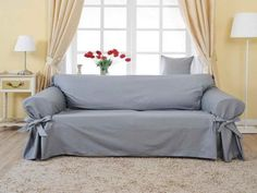 Superbe Light Grey Sofa Slipcover