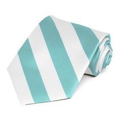 Pool and White Striped Tie $8.50 each