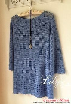 We knit together on-line dress-tunic crochet - We knit together on-line - Country Mom