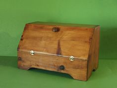 Vintage Wooden Bread Box / Wooden Bread by PineSpringsCottage, $42.00