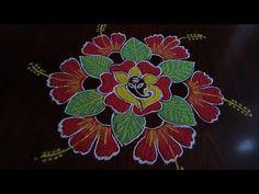 Rangoli Designs Peacock, Rangoli Designs Diwali, Rangoli Designs Images, Beautiful Rangoli Designs, Rangoli With Dots, Simple Rangoli, Diwali Drawing, Festival Rangoli, Gold Pendent