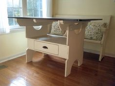 DIY Furniture : DIY Mother's Day First Build - Cameron Vintage Storage Dining Table