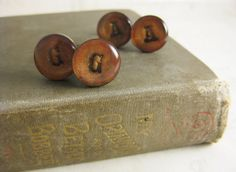 Custom Initial Antique Inspired Cufflinks - Two Sets - Antique Brass links