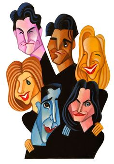 'Friends' (Caricature) by David Cowles Illustrator (Dunway Enterprises) http://masterpaintingnow.com/how-to-draw-everything?hop=dunway