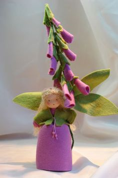 Purple Foxglove  Flower Child  Waldorf di KatjasFlowerfairys
