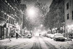 New York City - Snowy Night in the East Village by Vivienne Gucwa on 500px