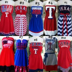Need to make a baylor game day dress.  Maybe can get some idea here