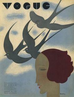 Vintage Vogue Covers, 1930 #VintageVogueCoversKisyovaLazarinova
