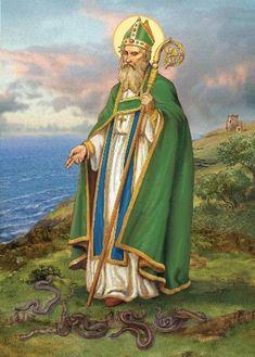 ICONOGRAPHIECHRÉTIENNE:圣帕特里斯(PATRICK)D'IRLANDE,évêque,confesseur等apôtre