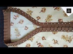 Design Discover Perfect full collar neck design with frill Chudidhar Neck Designs, Neck Designs For Suits, Neckline Designs, Dress Neck Designs, Hand Designs, Sleeve Designs, Kurta Neck Design, Saree Blouse Neck Designs, Blouse Designs