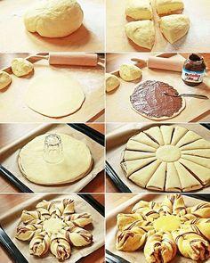 COZONAC-FLOARE cu CIOCOLATĂ - o rețetă inedită de Paști | La Taifas Pastry And Bakery, Bread Baking, Soul Food, Cookie Recipes, Caramel, Goodies, Food And Drink, Sweets, Homemade