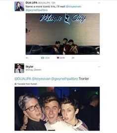 Tyler and Troye are trying to be all sexy and Connor's just like :D ☆Sunshine☆