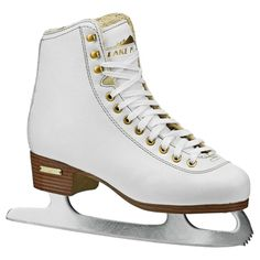 Lake Placid Alpine 900 Women's Traditional Figure Ice Skate - White (Size 10)