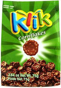 Klik Chocolate Coated Cornflakes