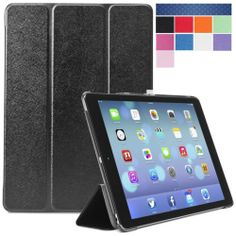 Apple iPad Air Case (5th Generation) i-Folio Smart Cover Smart Case- Black Time left: 8h 4m 27s