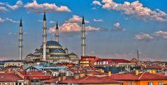 Мечеть Коджатепе в Анкаре Soulmate Love Quotes, Mosque, Cn Tower, Wonders Of The World, Ankara, Explore, City, Building, Travel