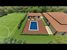 Dream Home Design, House Design, Swimming Pools Backyard, Modern House Plans, Pool Houses, Pool Designs, Farm Life, My House, Architecture