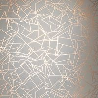 Angles by Erica Wakerly - Copper Rose / Zinc Grey - Wallpaper : Wallpaper Direct Copper Wallpaper, Metallic Wallpaper, White Wallpaper, Bedroom Wallpaper, Geometric Wallpaper, Damask Wallpaper, Modern Wallpaper, Wallpaper Ideas, Unusual Wallpaper