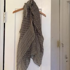 Cute Polka Dot Scarf Lightweight, grey and white polka dot scarf. Great addition to any wardrobe. Accessories Scarves & Wraps