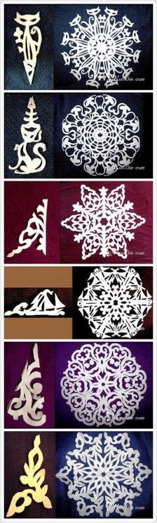 Origami christmas decorations kids 20 id. Snowflake Template, Snowflake Designs, Snowflake Pattern, Holiday Crafts, Fun Crafts, Diy And Crafts, Arts And Crafts, Origami Paper, Diy Paper