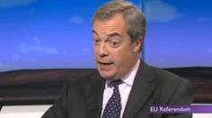 BREAKING : Nigel Farage MEP : Britain Will Vote For A BREXIT -15/04/16