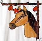 Horse Corner Right Stained Glass