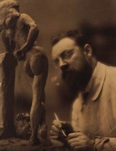 Edward Jean Steichen (U.S.A., b. Luxembourg, 1879–1973), Henri Matisse Working on the Sculpture La Serpentine, c. 1908. Platinum print. Anonymous gift