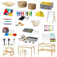 Whenever I walk into Ikea I see so many possibilities. I have been interested in their new children's art (Mala), toy (Lattjo) and small furniture (Flisat) ranges! Have you seen them yet? They have a