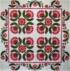 applique quilt. I love this!