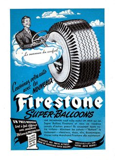 Firestone Super-Balloons Tires (1948) by Denis Goulet on Flickr.