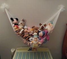 Struggling to find a place to put all of your child's stuffed animals. We have the solution for you. A DIY toy hammock you can make for under $5