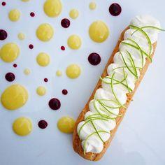 Mon éclair citron vert mascarpone..... #menubistronomique #citronvert #lime #mascarpone #dessert #pâtisserie #pastry #faitmaison #Food #Foodista #PornFood #Cuisine #Yummy #Cooking