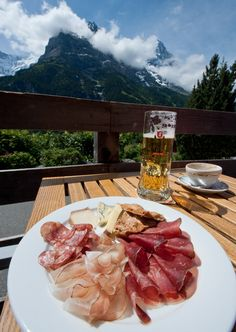 This is what breakfast looked like in Germany.  I miss it!  (Except the beer, no beer at breakfast)
