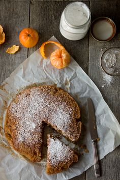 Chestnut Flour and Clementine Cake