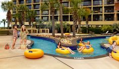 The NEW Live Oaks Lazy River www.springmaidbeach.com