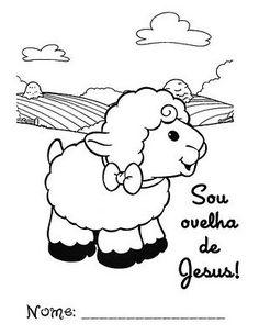 Jesus é o bom Pastor e eu sou a ovelhinha.