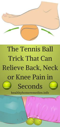 Pain Remedies The Tennis Ball Trick That Can Relieve Back, Neck or Knee Pain in Seconds Knee Pain Relief, Headache Relief, Knee Pain Exercises, Foot Stretches, Sciatica Stretches, Sciatic Pain, Knee Arthritis, Rheumatoid Arthritis, Arthritis Relief