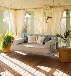 Absolutely MUST have is a big porch swing :-)