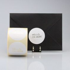 "Stickers ""Hello I'm here"" (per 20) - WIT/GOUD"