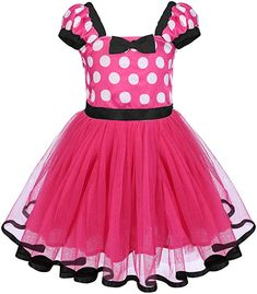 Jarsh Kids Girl Polka Dots Birthday Princess Party Cosplay Tutu Dress Bowknot Princess Dress