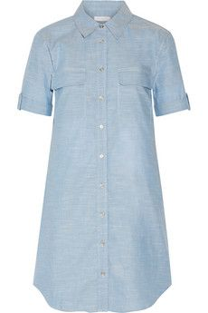 Equipment Slim Signature cotton-chambray mini dress | THE OUTNET