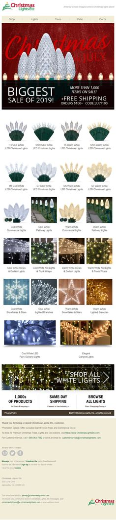 Design 09 of Christmas Lights Etc, Christmas In July, White Light, How To Find Out, Design