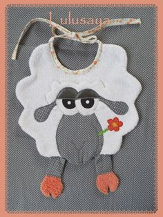 "Bavoir animaux rigolo ""mouton"""