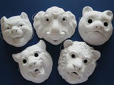 Plastic Masks To Decorate Paperanimalmaskcraft  Our King Of The Jungle Is The First Mask